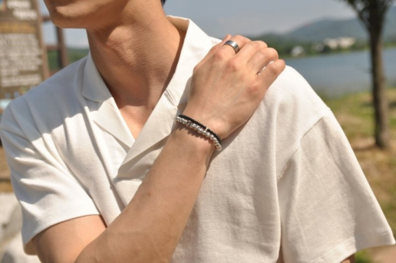하우데어(HOWTHERE) 체인팔찌 Iron Man - bold chain bracelet